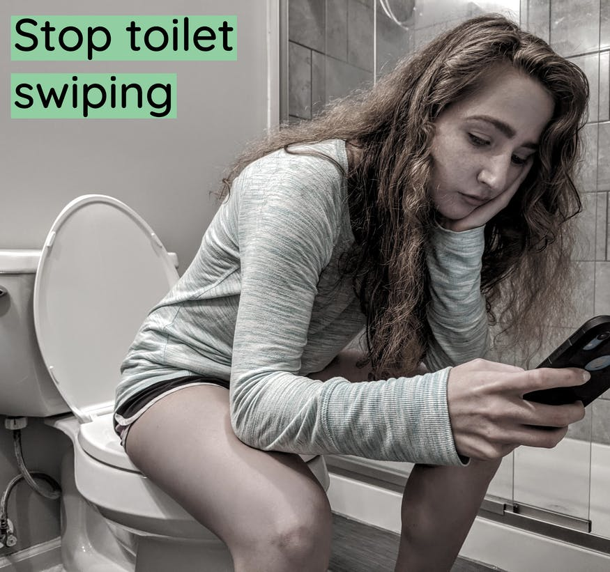stop toilet swiping